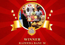 Kitchen Maharani Contest Winner - Sakthi Dairy